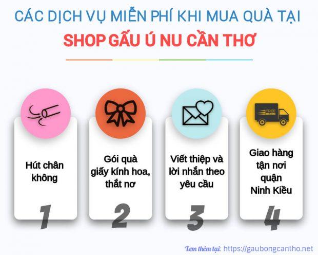 Dịch vụ, tiện ích miễn phí khi mua hàng tại Shop Gấu Ú Nu