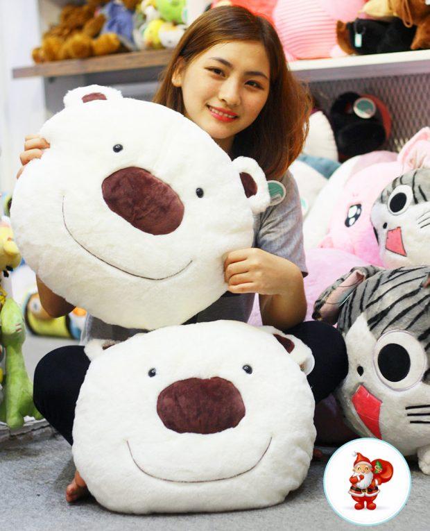 Gối ôm Gấu Teddy | Đầu gấu trắng Bắc cực » Gấu bông Cần Thơ
