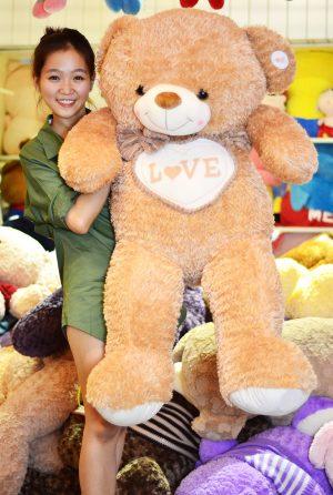 Gấu Teddy Camel Ngực Tim
