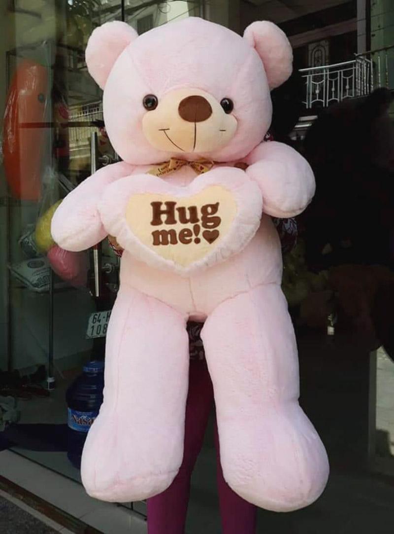 Hug me 1m hồng nhạt