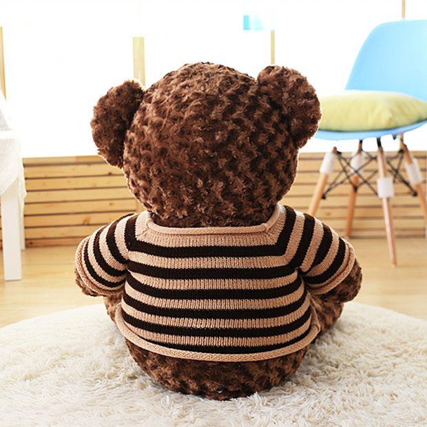 Gấu bông Teddy nhìn phía sau lưng