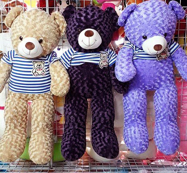 Gấu bông Teddy màu sữa, laverder và tím