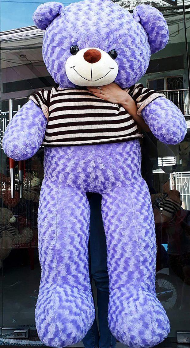 Gấu bông Teddy màu tím size 1.6m