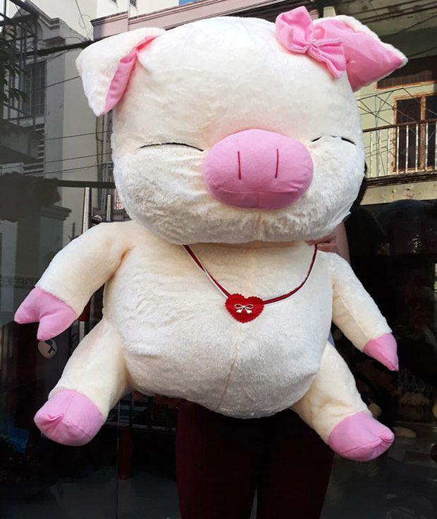 Heo hồng hí size 1 màu hồng nhạt giá 360.000k