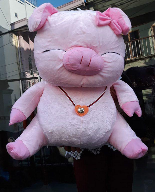 Heo hồng hí size 1 màu hồng đậm giá 360.000đ