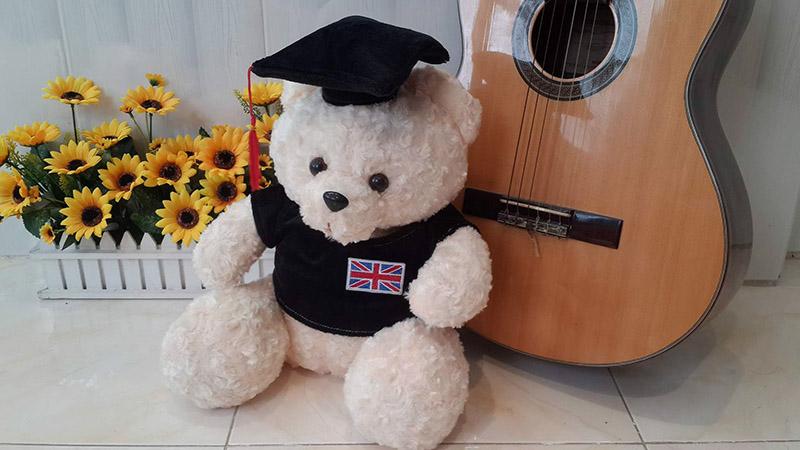 Gấu bông tốt nghiệp chỉ 180k