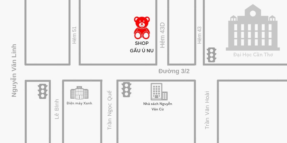 Bản đồ địa chỉ Shop Gấu Bông Cần Thơ