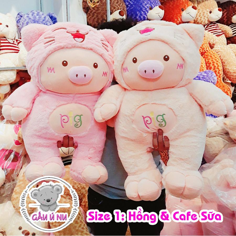 Size 1 (khoảng 75 - 80cm): hồng và cafe sữa