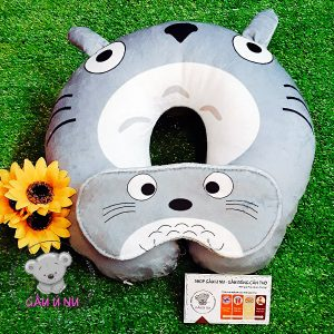 Combo Gối cổ + Bịt mắt Totoro