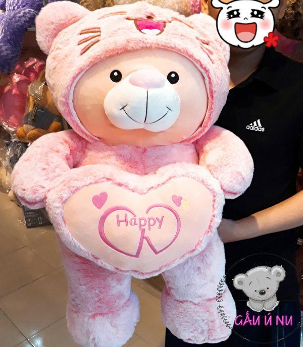 Gấu bông Cosplay màu hồng