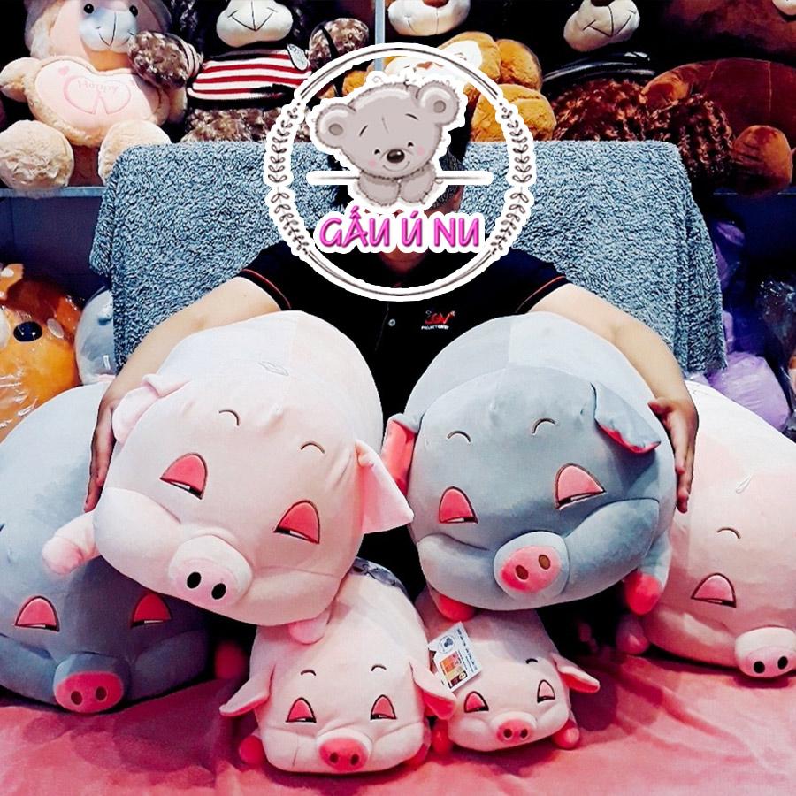 Heo hồng buồn ngủ Size 1 có 2 màu xám và hồng