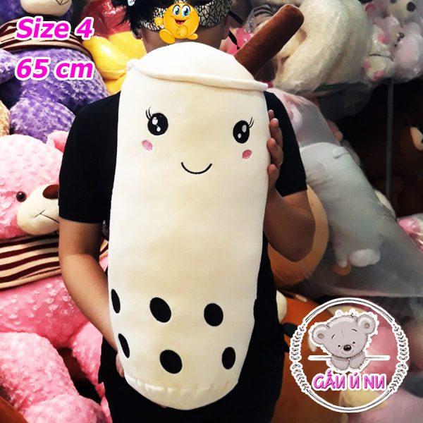 """Size """"trà sữa"""" lớn nhất của shop (size 4) có chiều cao 65cm"""
