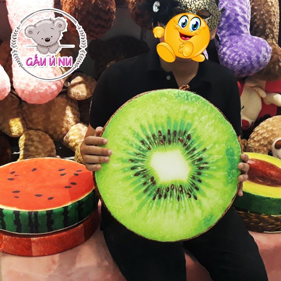 Gối trái cây 3D hình trái Kiwi