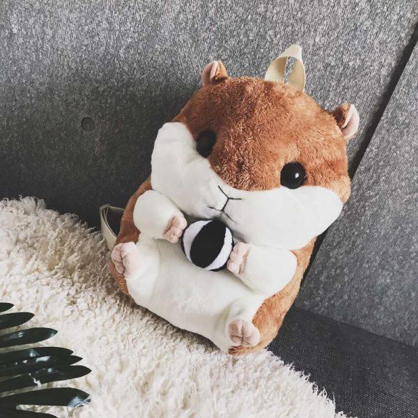 Balo chuột bông   Balo thú bông Chuột Hamster